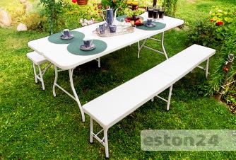 Stół cateringowy z ławkami