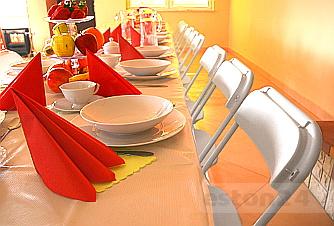 Krzesła impreza firmowa urodziny komunia